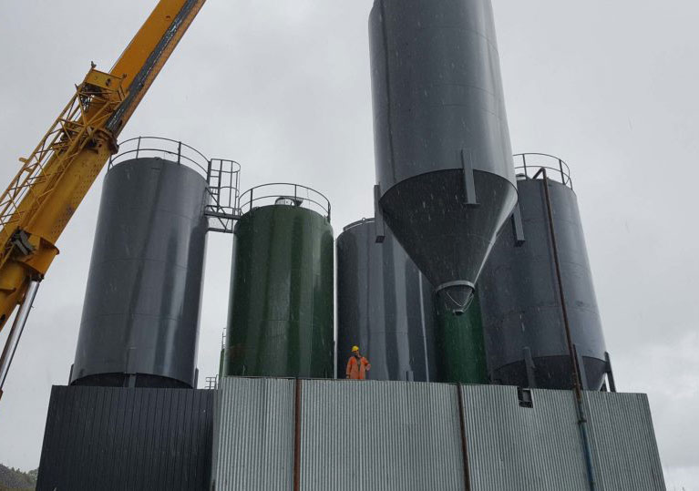 Our team installing new cement silos in Roadstone, Killough, Tipperary